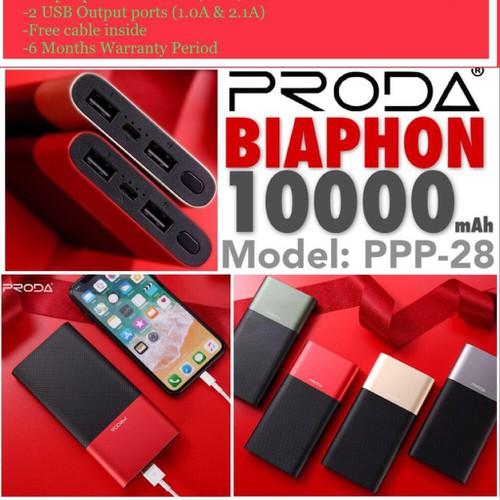 Pin dự phòng PRODA BIAPHON PPP- 28 10000mAh - 7273759 , 13954502 , 15_13954502 , 390000 , Pin-du-phong-PRODA-BIAPHON-PPP-28-10000mAh-15_13954502 , sendo.vn , Pin dự phòng PRODA BIAPHON PPP- 28 10000mAh