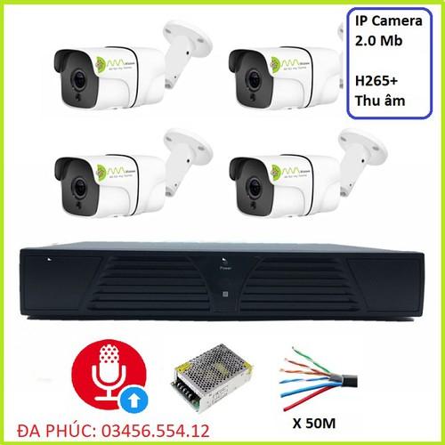 Bộ Camera 4 mắt  2.0 - 1080MP ngoài trời IP Kiwivision NVR4, camera wifi ngoài trời full hd,camera giám sát wifi ngoài trời,camera wifi,camera an ninh,camera ip,camera giám sát,camera quan sát,camera