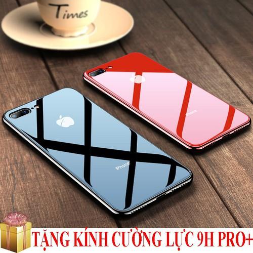 Ốp lưng Iphone 6,6S,6P,6SP,7,7P,8,8P,X,XR,XS,XSMax gương kính viền màu cao cấp