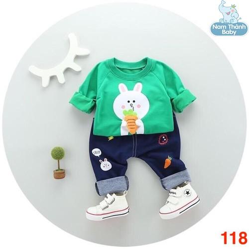 Bộ quần áo chất da cá cho bé từ 6 đến 22 kg - Mẫu 118