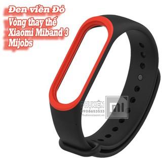 Vòng đeo thay thế Miband 3-4 MIjobs viền màu - đen viền đỏ - Mijobs-MB3-DenDo thumbnail