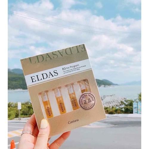 set 4 ống tinh chất dưỡng da Eldas EG Tox Program