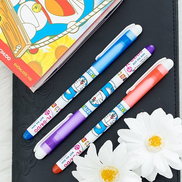 Bộ 10 Bút lông kim Thiên Long-Doraemon FL-04/DO