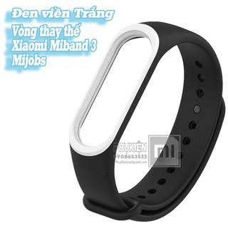 Vòng đeo thay thế Miband 3-4 MIjobs viền màu - đen viền trắng - Mijobs-MB3-DenTrang thumbnail