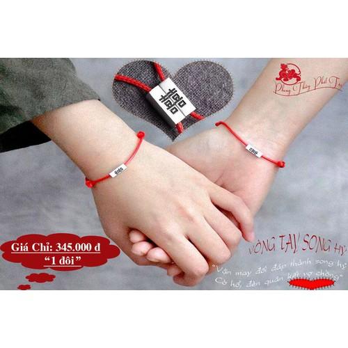 Vòng tay đôi chỉ đỏ may mắn khắc chữ song hỉ - 7301477 , 13972575 , 15_13972575 , 345000 , Vong-tay-doi-chi-do-may-man-khac-chu-song-hi-15_13972575 , sendo.vn , Vòng tay đôi chỉ đỏ may mắn khắc chữ song hỉ