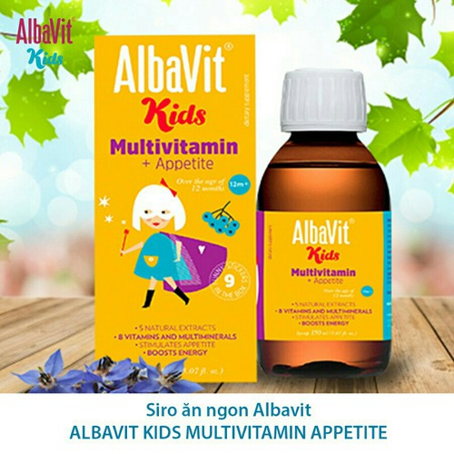 Albavit Munltivitamin Appetite -tăng cường sức đề kháng Tăng khả năng