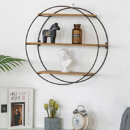 Giá trang trí Quatructuyen treo tường hình tròn