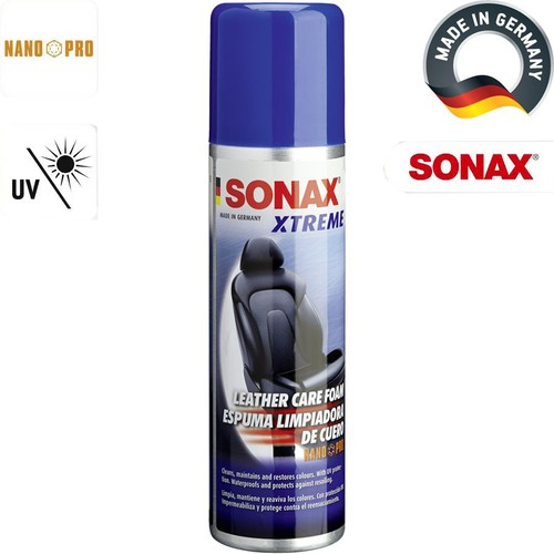 Chai xịt bọt làm sạch bảo dưỡng da Sonax Xtreme NanoPro 250ml