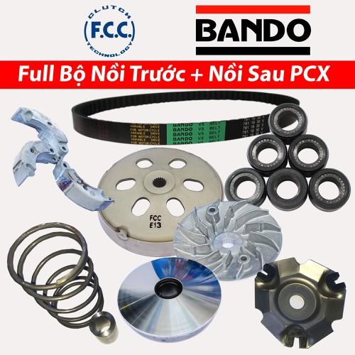 Full Bộ nồi trước và Nồi Sau Honda PCX 125, 150cc Bando,  FCC