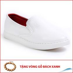 Giày Lười Nam – Giày Slip On Nam Aroti Đế Khâu Chắc Chắn Phong Cách Đơn Giản Màu Trắng – M498-TRANG-GB
