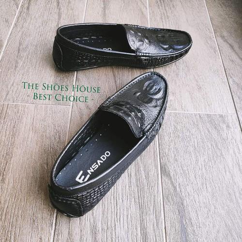 Giày Da Cá Sấu Được In Vân Từ Da Bò Thật Nguyên Tấm Cao Cấp Thiết Kế Hiện Đại The Shoes House K14DST