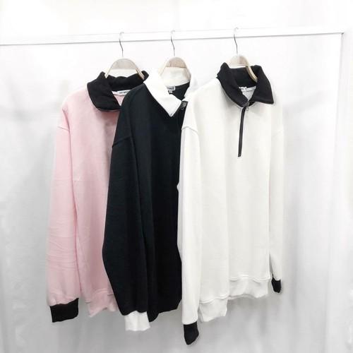 áo cổ trụ zip tay dài 3 màu