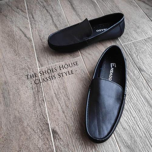 Giày Nam Da Bò Nguyên Tấm Cao Cấp Dáng Lười Nhập Khẩu Italy Siêu Mềm The Shoes House K18DST