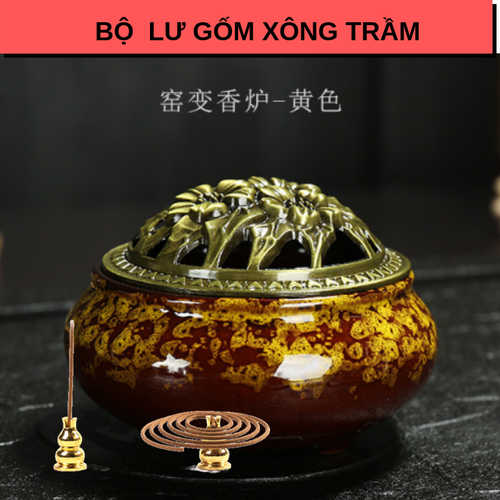 Bộ lư gốm xông trầm có trụ cài nhang vòng, cắm hương MÀU VÀNG - 7310352 , 13978639 , 15_13978639 , 150000 , Bo-lu-gom-xong-tram-co-tru-cai-nhang-vong-cam-huong-MAU-VANG-15_13978639 , sendo.vn , Bộ lư gốm xông trầm có trụ cài nhang vòng, cắm hương MÀU VÀNG
