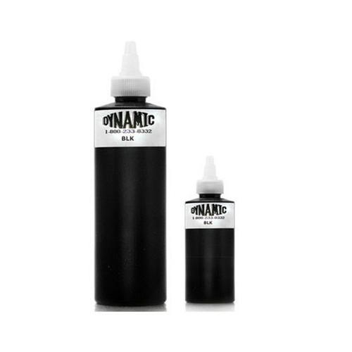 Mực xăm đen DYNAMIC Color BLACK 240ml cho máy xăm, kim xăm