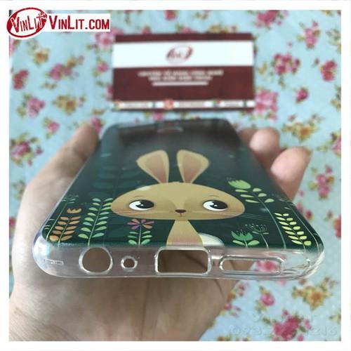 Ốp lưng Oppo F9 ốp hình thỏ con cực dễ thương kèm dây
