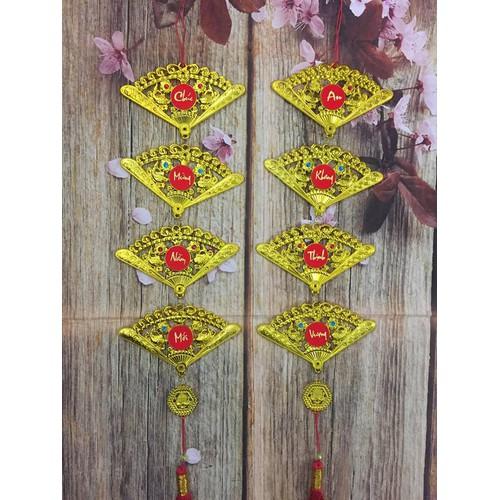 Combo 2 dây treo trang trí tết - mẫu quạt dài 75cm
