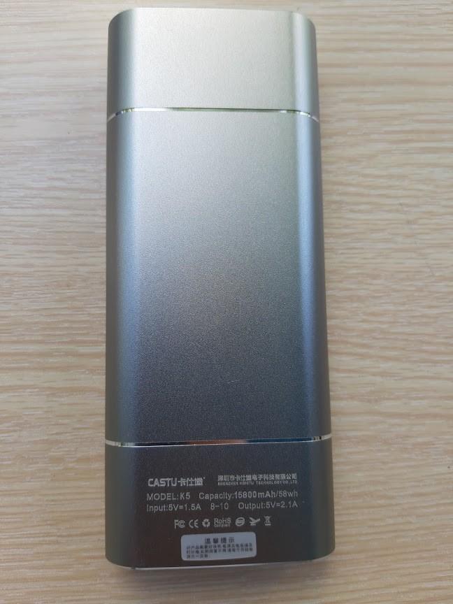 Pin Sạc Dự Phòng CASTU K5 15800 mAh Vỏ Nhôm 1