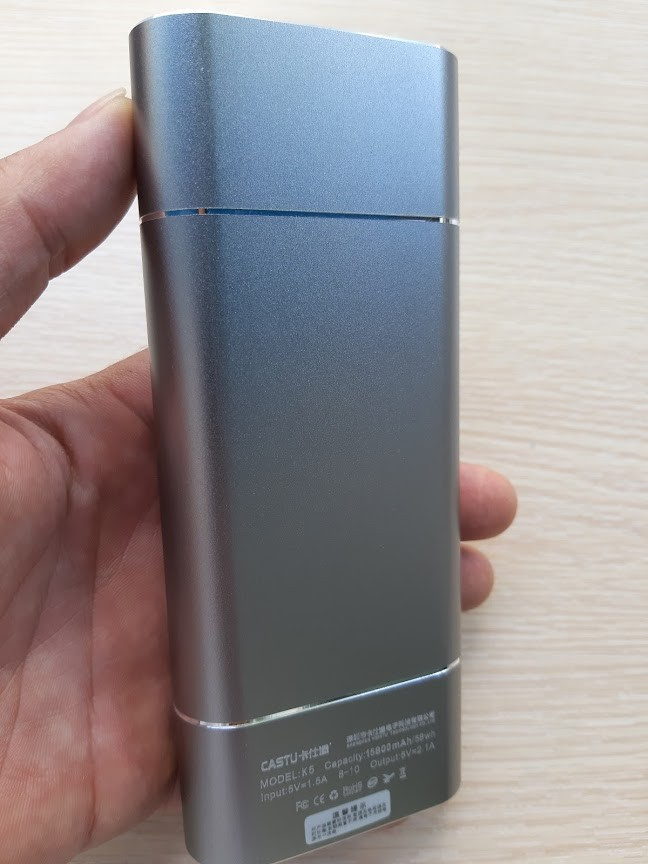 Pin Sạc Dự Phòng CASTU K5 15800 mAh Vỏ Nhôm 5