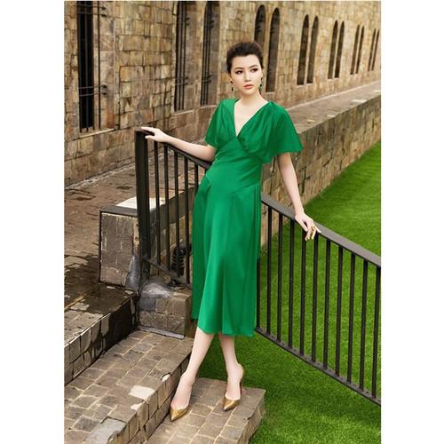 Đầm xòe dài kiểu cổ V tay cánh tiên - 7323500 , 13987026 , 15_13987026 , 500000 , Dam-xoe-dai-kieu-co-V-tay-canh-tien-15_13987026 , sendo.vn , Đầm xòe dài kiểu cổ V tay cánh tiên