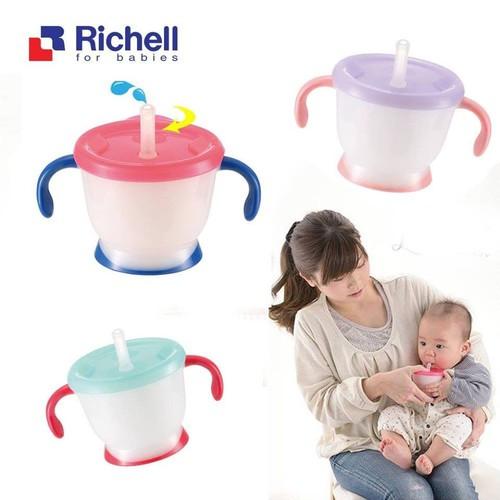 Cốc Tập Uống Richell 3 Giai Đoạn-Các Mom ghi chú màu nhé.
