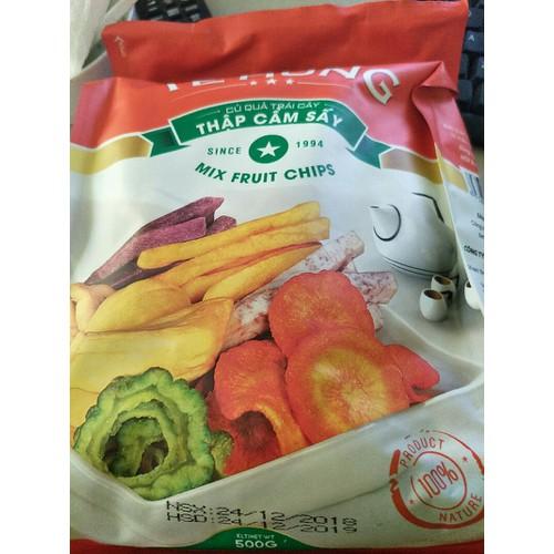rau củ trái cây sấy khô 500gr