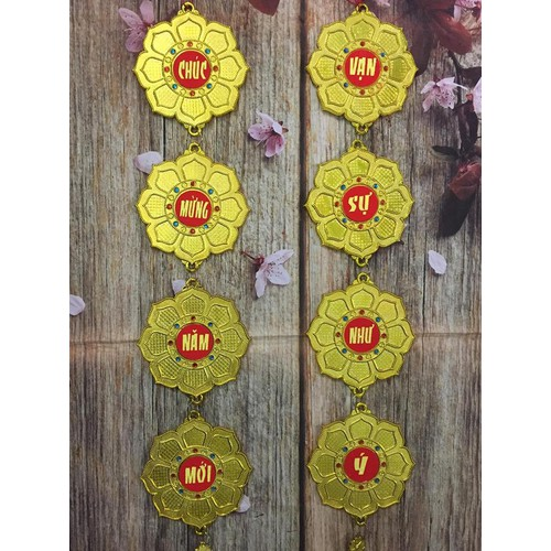 Dây treo trang trí tết - mẫu hoa dài 75cm