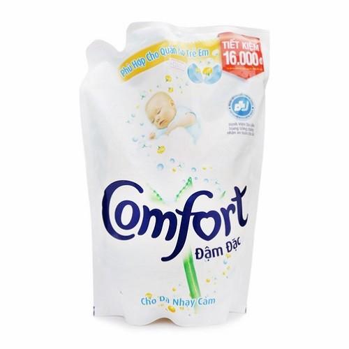 Nước xả vải Comfort đậm đặc cho da nhạy cảm dạng túi 1.6 lít