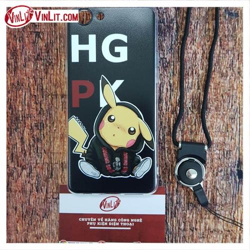 Ốp lưng Oppo F7 Youth ốp hình Pikachu cực chất kèm dây - mẫu 1