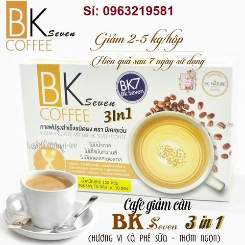 Giảm Cân Cà Phê  BK Seven Coffee Thái Lan giữ dáng, đẹp da