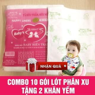 10 Gói lót phân su tặng 2 khăn yếm - LkNj1r02tq thumbnail