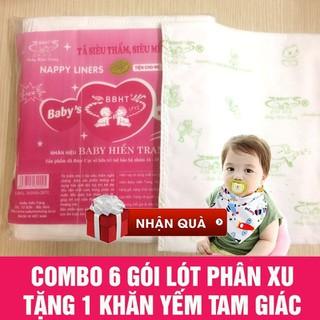 6 Gói lót phân su tặng 1 khăn yếm - 6Lotphansu thumbnail