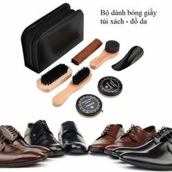 Bộ xi giầy - Bộ dánh bóng giầy , túi da