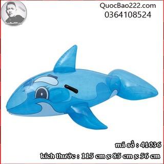 Phao bơi cá voi xanh 1.17m x 71cm Bestway kèm bản vá sửa chữa 41036 - b41036 thumbnail