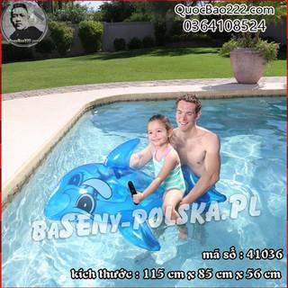 Phao bơi cá voi xanh 1.17m x 71cm Bestway kèm bản vá sửa chữa 41036 - h41036 thumbnail