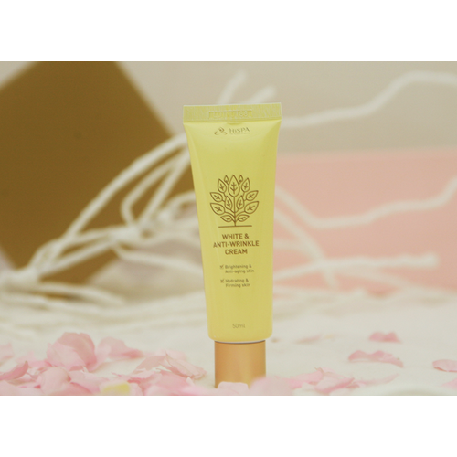 Kem chống lão hoá cho da sạm mầu hispa white-anti wrinkle cream Hàn Quốc