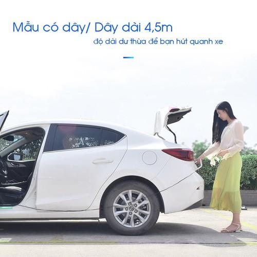 Hút bụi ô tô 12v 120w AKS-8001 - máy hút bụi xe hơi có dây 4.5m