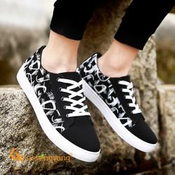 Giày vải thể thao giày vải nam buộc dây họa tiết GLG086