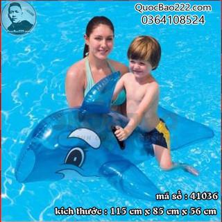 Phao bơi cá voi xanh 1.17m x 71cm Bestway kèm bản vá sửa chữa 41036 - g41036 thumbnail