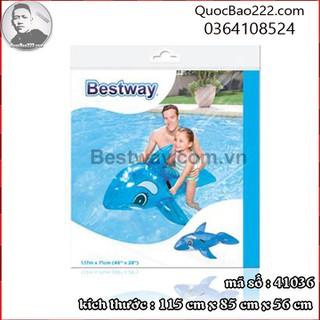 Phao bơi cá voi xanh 1.17m x 71cm Bestway kèm bản vá sửa chữa 41036 - f41036 thumbnail