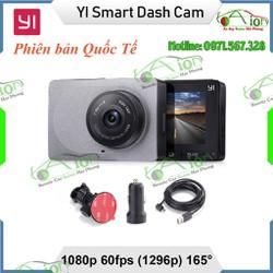 [Bản Quốc Tế - English] Camera hành trình Yi độ nét 2k góc quay 165, Wifi | YI Car Smart Dash Camera 1296p - KAIONXIAOMIYI2KQT