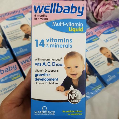 Wellbaby liquid - Vitamin Tổng Hợp Cho Bé Chính Hãng Của Anh, 6 tháng - 4 tuổi