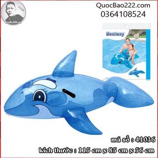Phao bơi cá voi xanh 1.17m x 71cm Bestway kèm bản vá sửa chữa 41036 - c41036 thumbnail