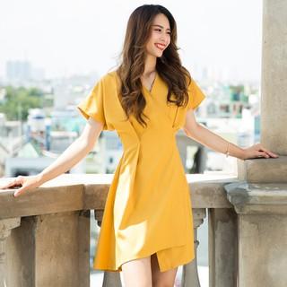 Đầm Đẹp Đầm Không Tuổi Hity DRE076 Vàng Mù Tạt Mustard - DRE076-VÀNG MÙ TẠT MUSTARD thumbnail