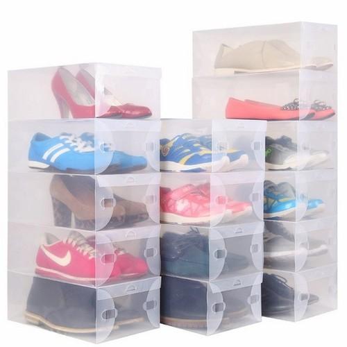 Combo 8 Hộp đựng giày bằng nhựa cao cấp trong suốt
