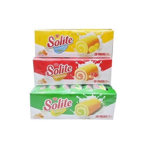 Bánh Bông Lan Cuộn Solite Lá Dứa, Bơ sữa, Dâu 360g 20 bánh - 7890480 , 16088865 , 15_16088865 , 37900 , Banh-Bong-Lan-Cuon-Solite-La-Dua-Bo-sua-Dau-360g-20-banh-15_16088865 , sendo.vn , Bánh Bông Lan Cuộn Solite Lá Dứa, Bơ sữa, Dâu 360g 20 bánh