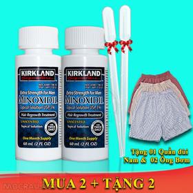 COMBO 2 Lọ Thuốc Mọc Râu Minoxidil Kirkland + Tặng Ống Bơm Và Quần - Trị Hói Mọc Râu- Dưỡng Rậm Chân Mày. - 2Mi+Q