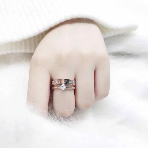 nhẫn nữ cao cấp cực đẹp đặt biệt không bi phai màu