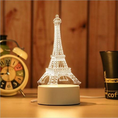 Đèn ngủ 3D trang trí hình tháp Eiffel