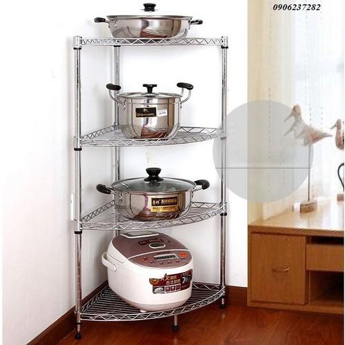 kệ 4 tầng-Kệ góc bếp inox 4 tầng 30x30x80-RE0383-kệ 4 tầng- giá inox 4 tầng- giá để đồ 4 tầng-giá inox-giá để góc bếp- kệ góc 4 tầng